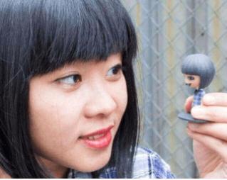 Mixee Labs 3d-tisk po naročilu Nancy Liang