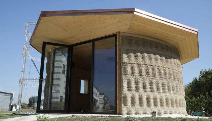 3D-natisnjena ekološka trajnostna hiša.