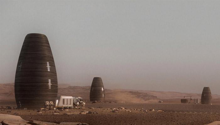 3d-natisnjena hiša na Marsu.
